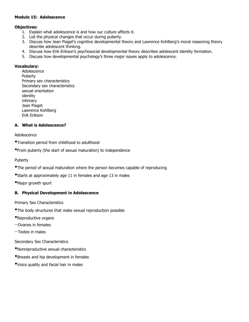 small resolution of Module 15 Notes