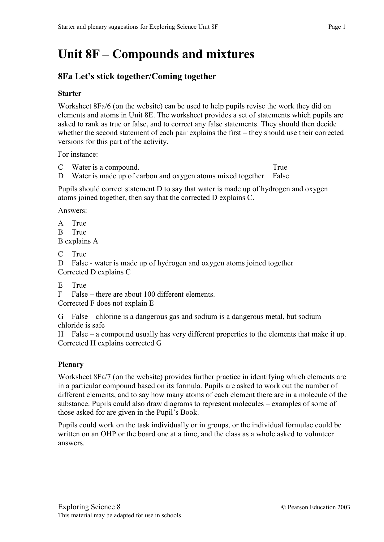 How Do Atoms Stick Together Worksheet Answers