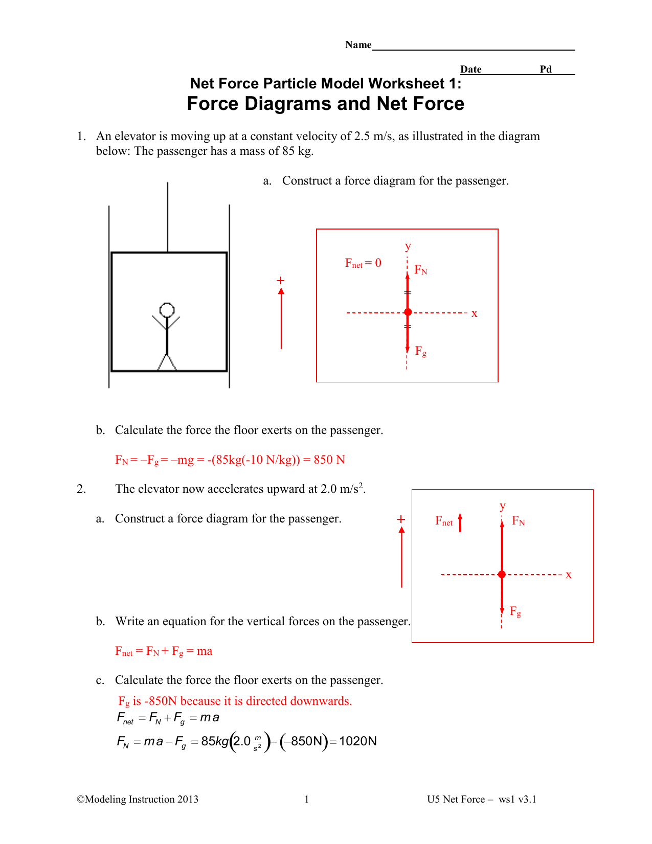 Constant Velocity Model Worksheet 4 Answers
