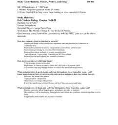 Study Guide Bacteria [ 1651 x 1275 Pixel ]