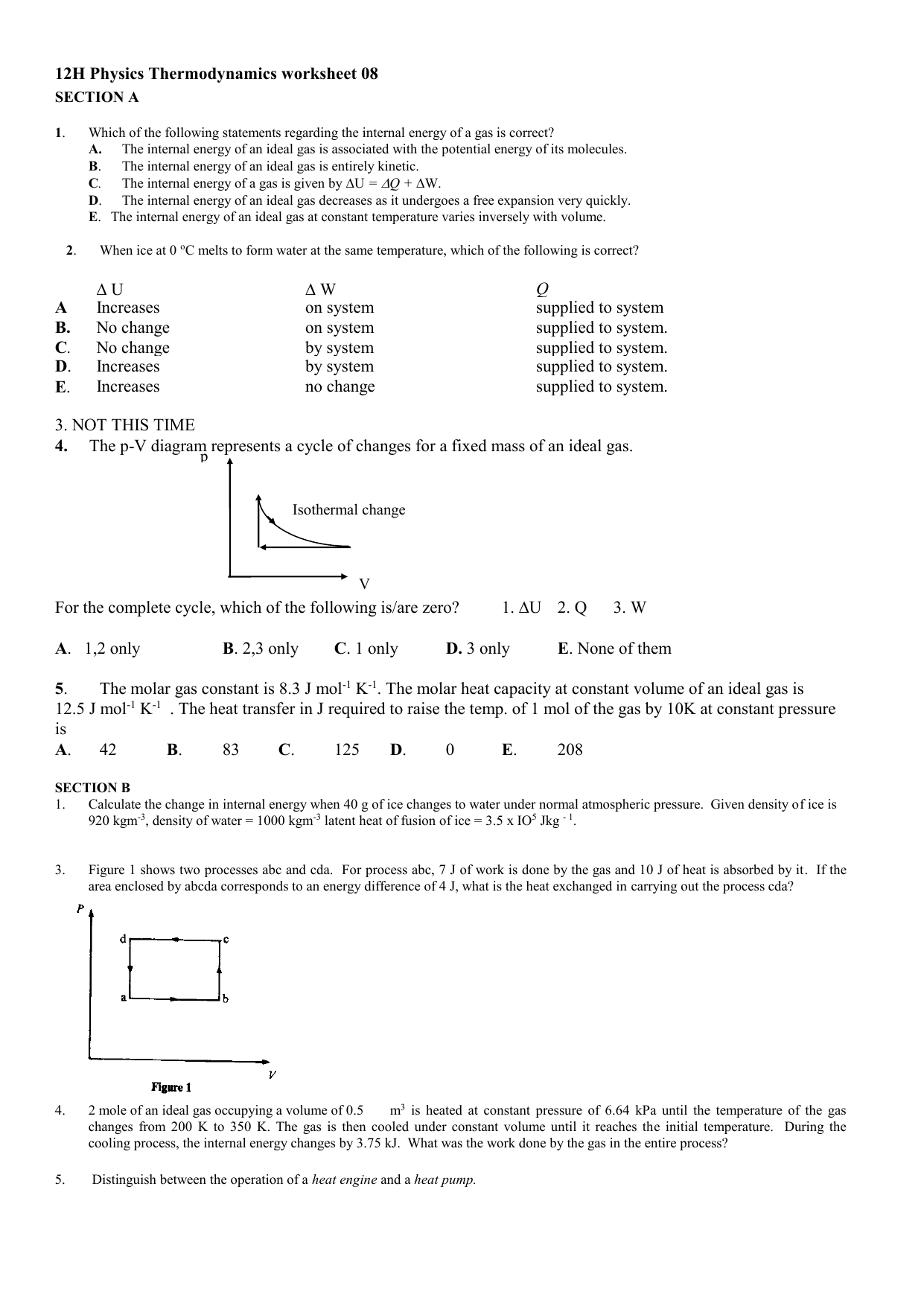 hight resolution of pv diagram worksheet
