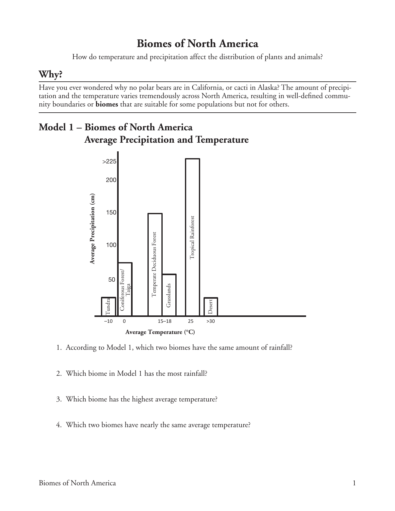 hight resolution of 29 Biomes Of North America Worksheet Answers - Worksheet Project List