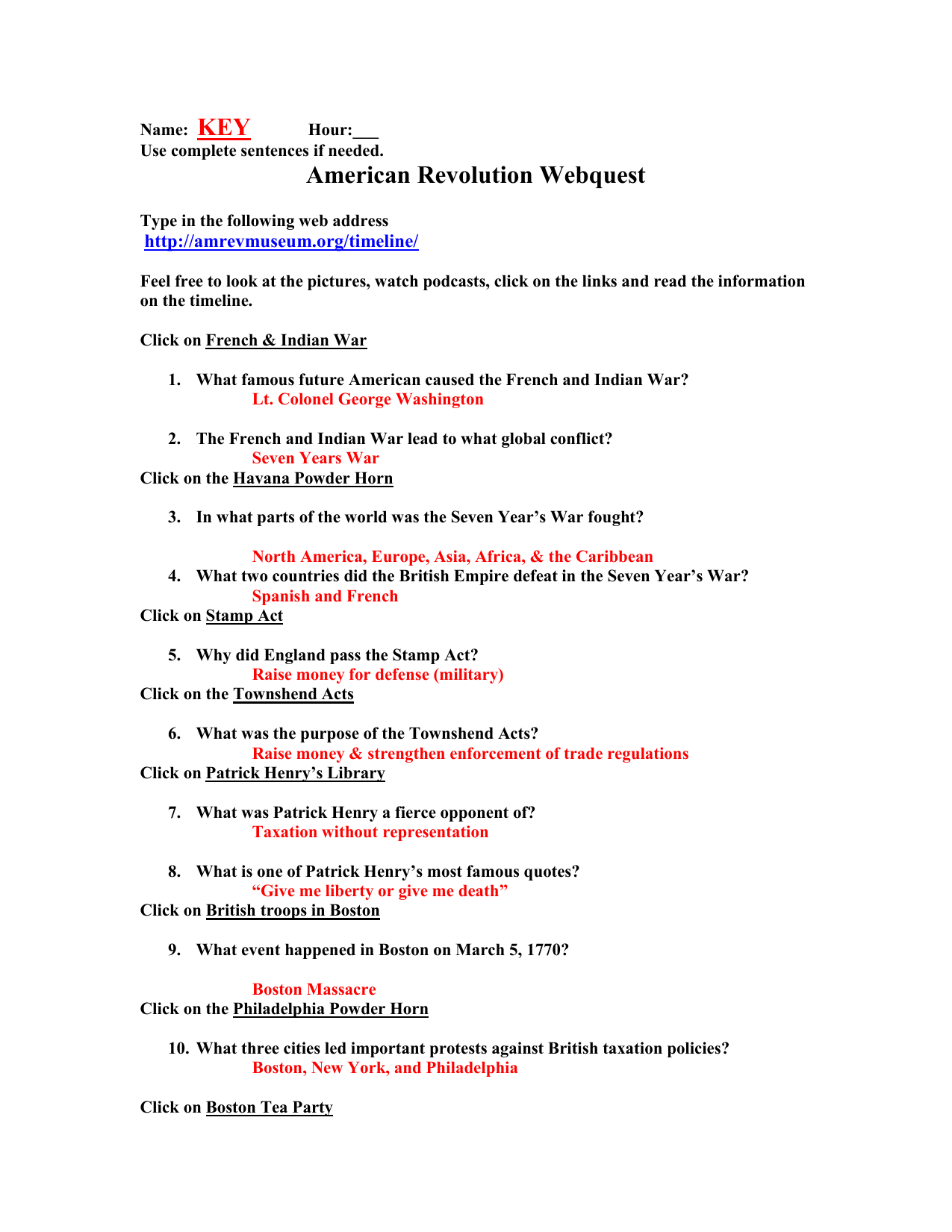 Bestseller United States Government Webquest Answer Key