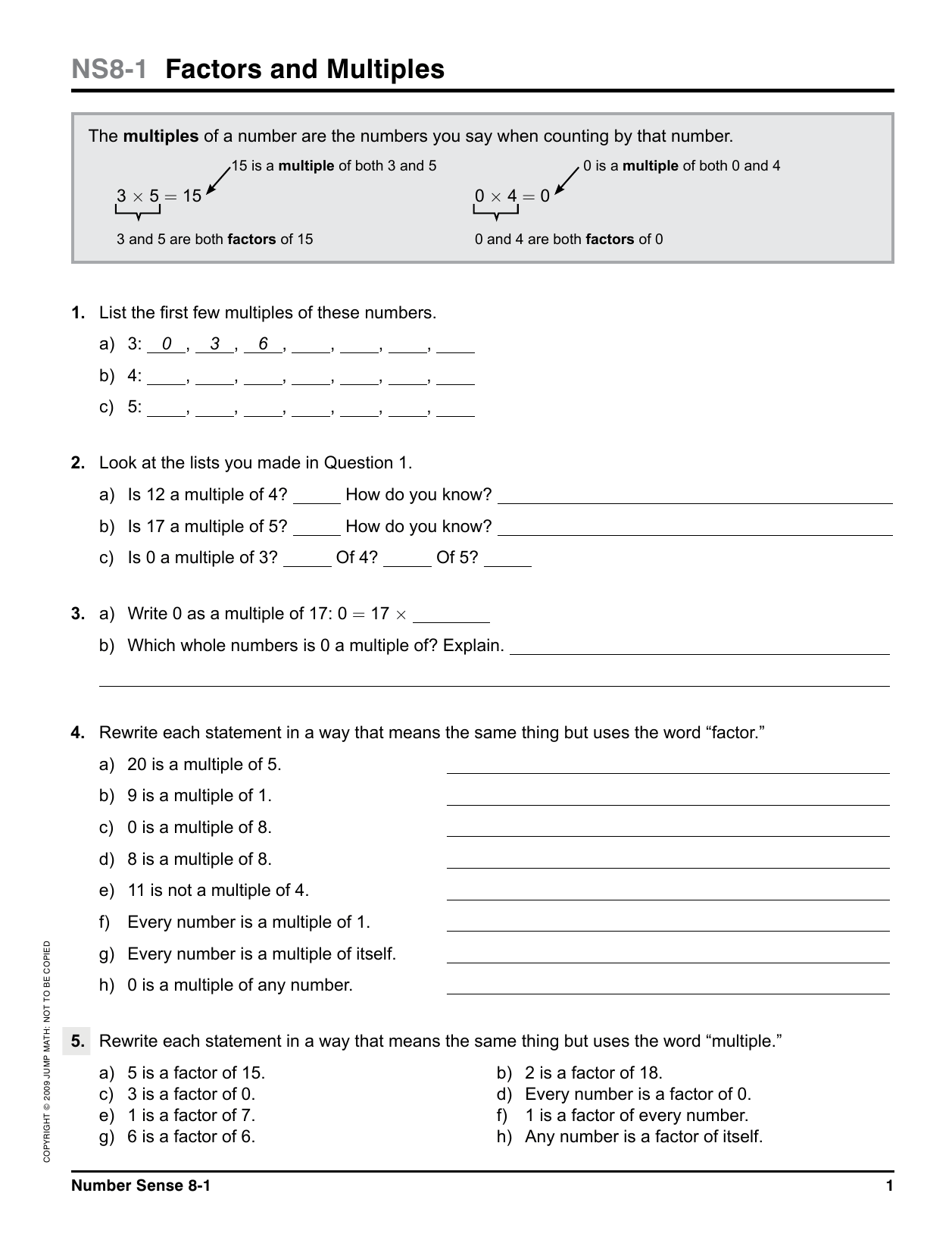 hight resolution of NS8-1 Factors and Multiples