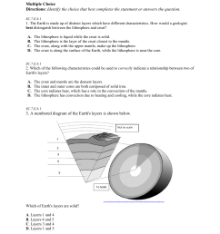 6th Grade Science Formative Assessment 5 Multiple Choice [ 1651 x 1275 Pixel ]