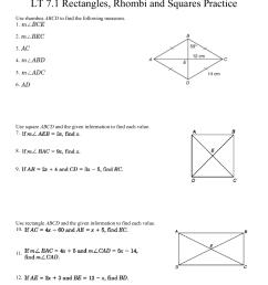 Squares And Rhombi Worksheet - Worksheet List [ 1651 x 1275 Pixel ]