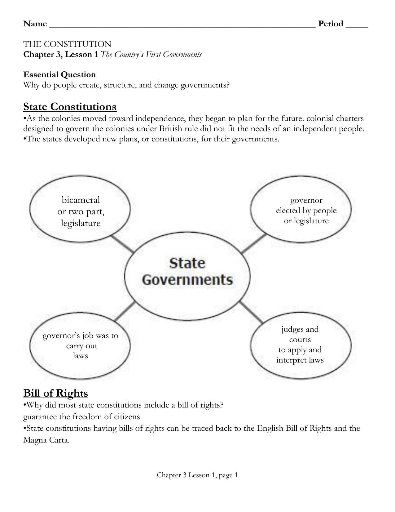Why Government Worksheet Answers