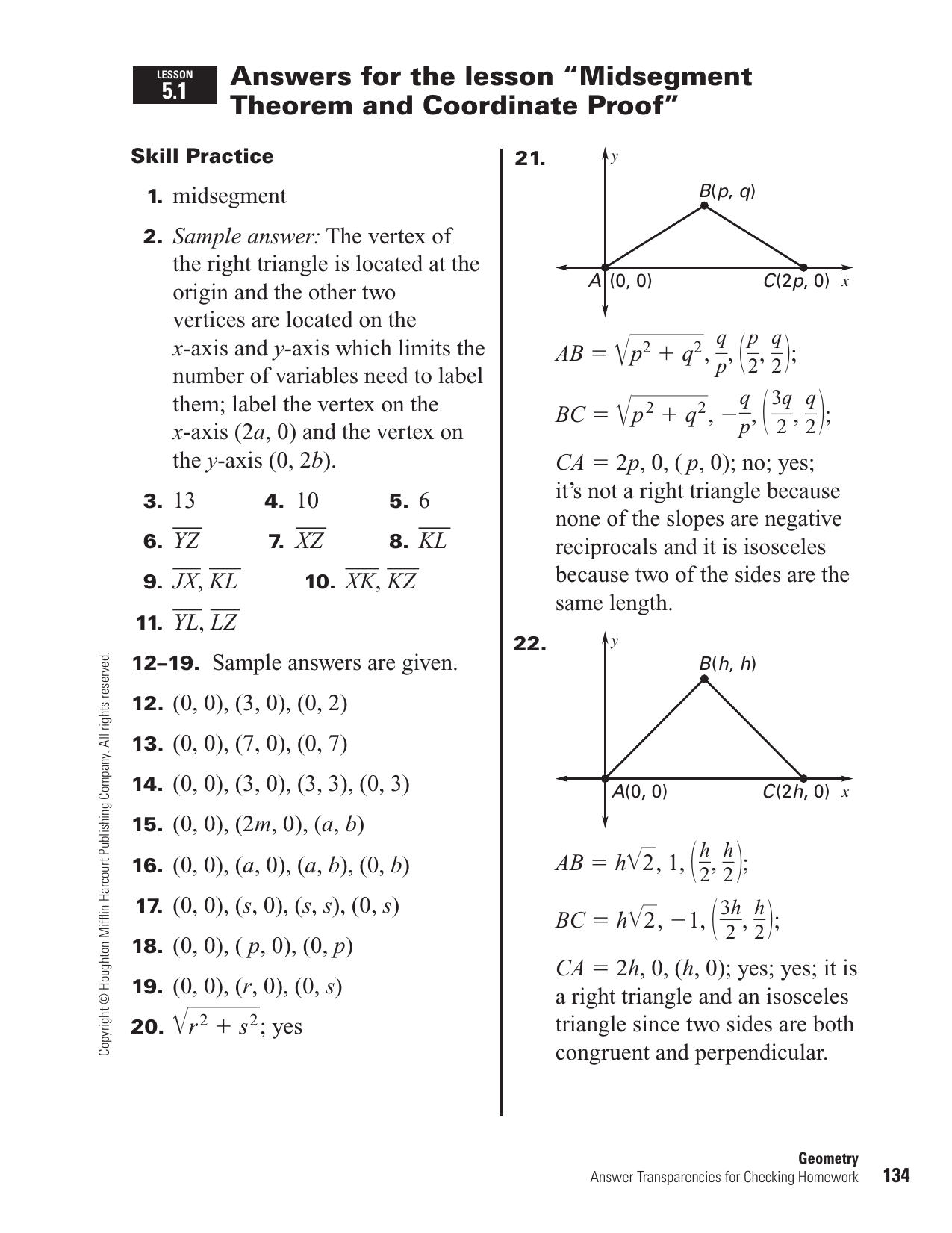 Midsegments Of Triangles Worksheet Answers