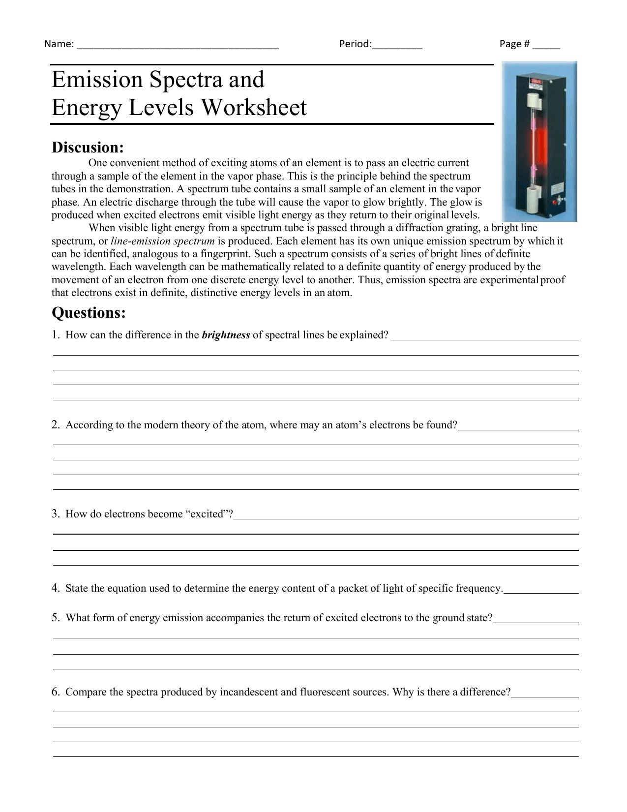 Forms And Sources Of Energy Worksheet Answers