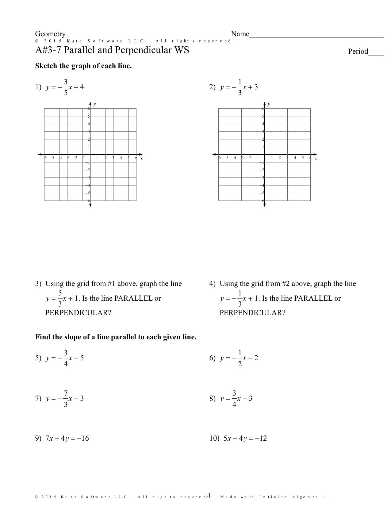 Alternate Interior Angles Worksheet Kuta