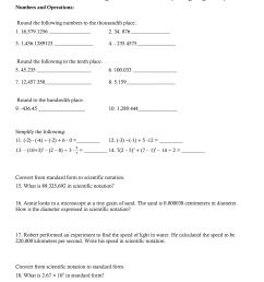 CCGPS Coordinate Algebra Summer Packet (Rising 9th graders) [ 1651 x 1275 Pixel ]