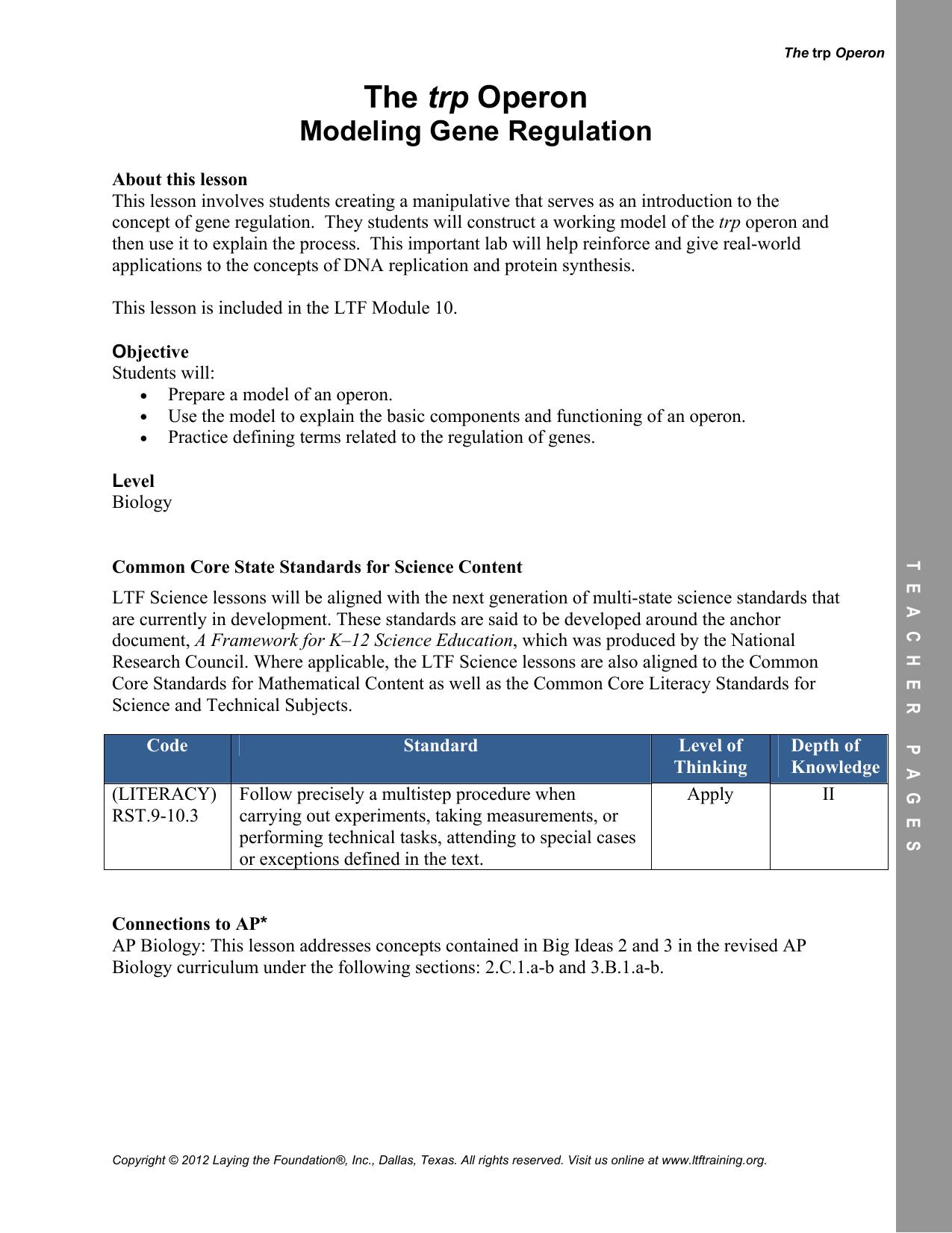 Big Ideas In Biology Worksheet Answers