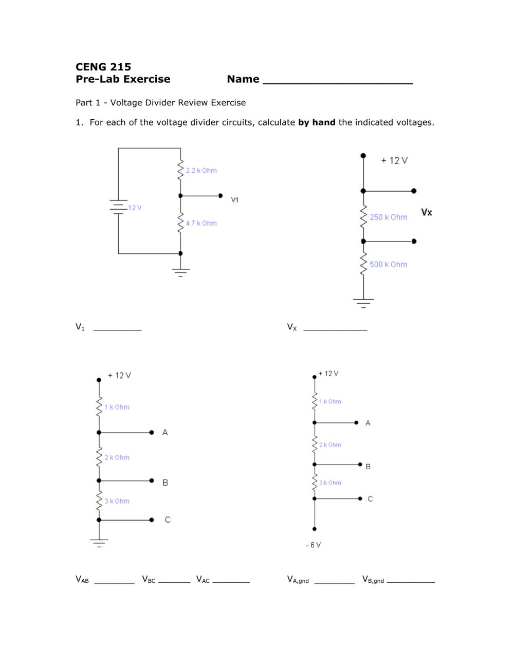 medium resolution of voltage divider circuit diagram