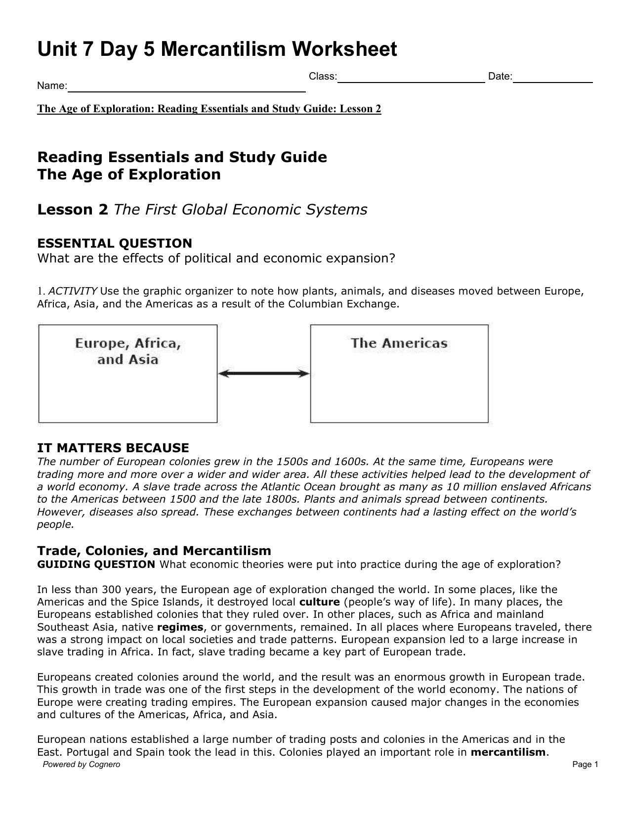 Worksheet Age Of Exploration Worksheet Grass Fedjp Worksheet Study Site