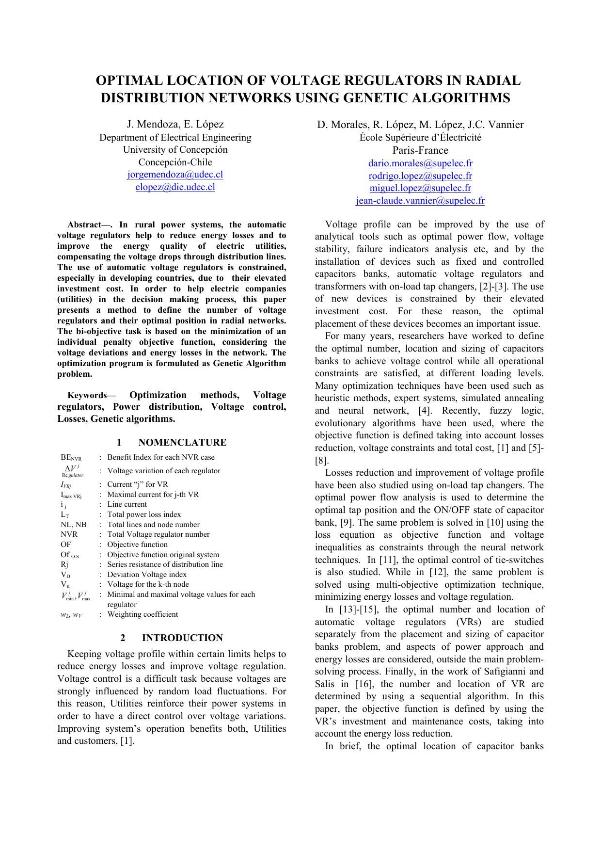 hight resolution of distribution voltage regulator