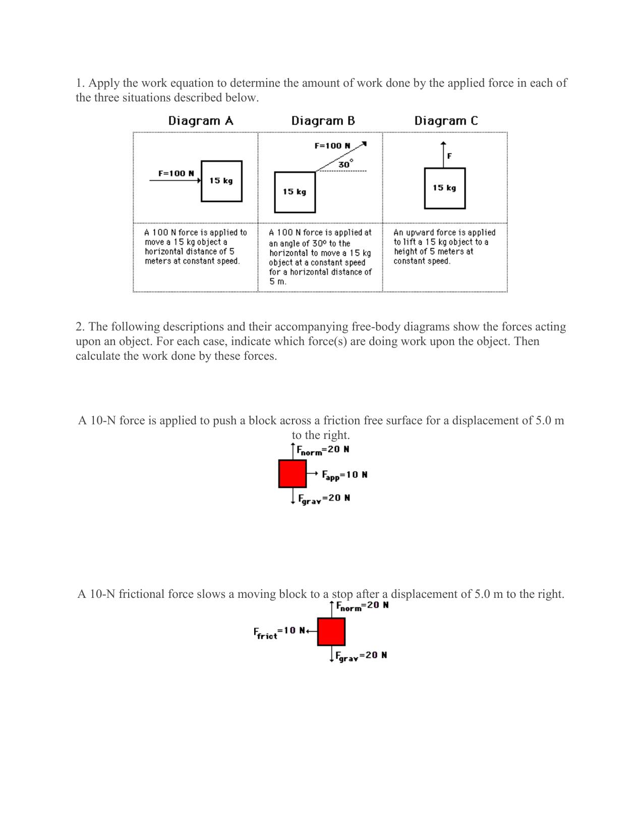 hight resolution of work free body diagram