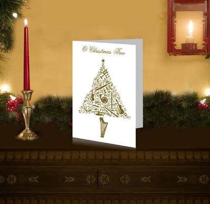 Classic FM Christmas Cards Christmas Tree With Musical