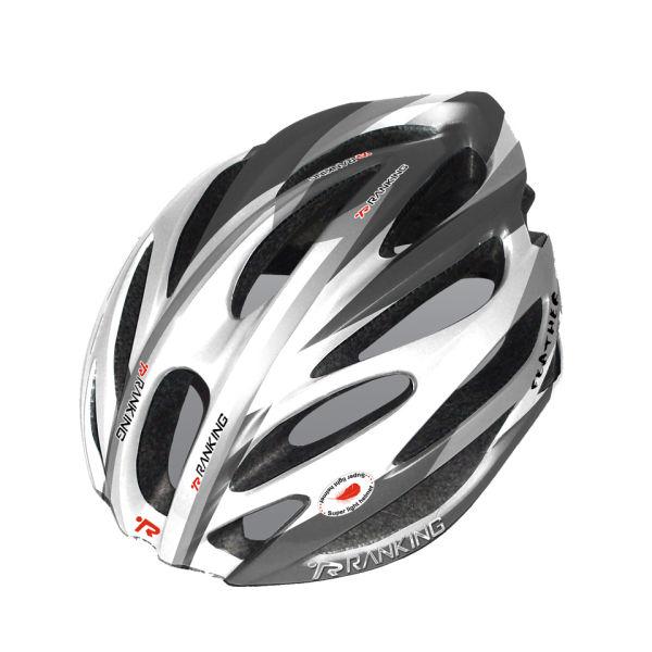 Ranking Feather Cycle Helmet - Grey/White | ProBikeKit UK