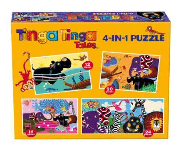 Tinga Tinga Tales 4 in 1 Puzzles Toys  TheHutcom