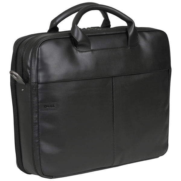 Dell Deluxe Black Leather 156 Inch Laptop Bag W0FCT