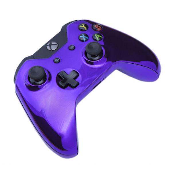 Xbox One Wireless Custom Controller Chrome Purple Games Accessories Zavvi