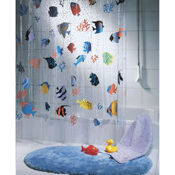 Spirella Fish Multicolour Shower Curtain IWOOT