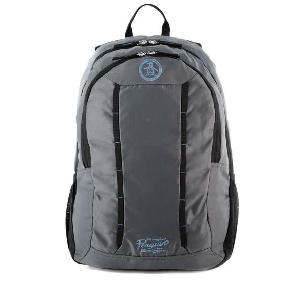 Original Penguin Men' Travel Backpack - Grey Charcoal