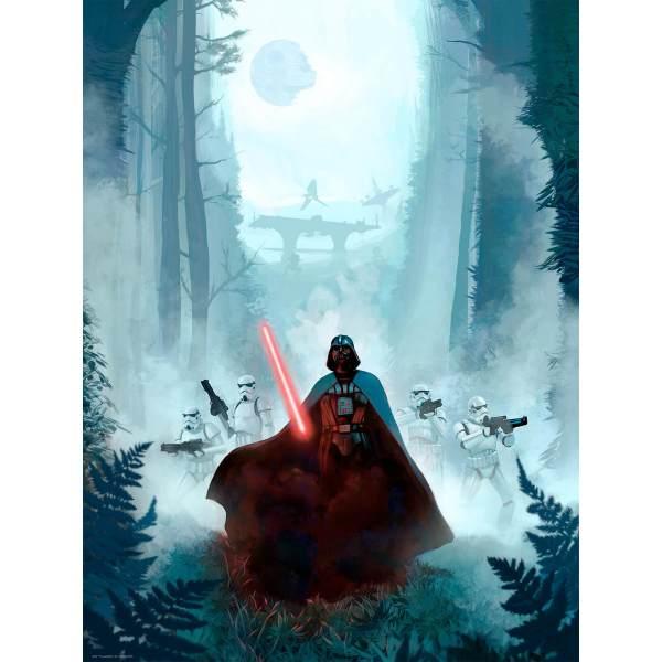 Star Wars Return Of Jedi 'vengeful Pursuit' Lithograph Print Jeremy Saliba 18 X 24