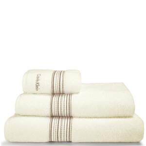 Calvin Klein Riviera Towel Range - Cream