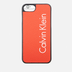 Calvin Klein Women's Fluid Click On Shell iPhone 7 Case - Burnt Orange