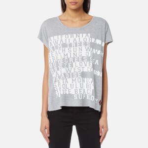 Superdry Women's Boxy Text T-Shirt - Sky Grey Marl