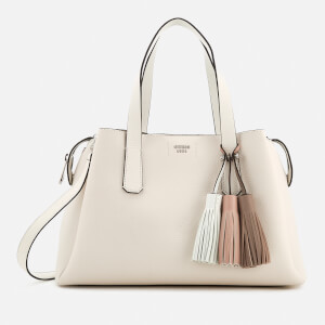 Guess Women's Trudy Girlfriend Satchel - White