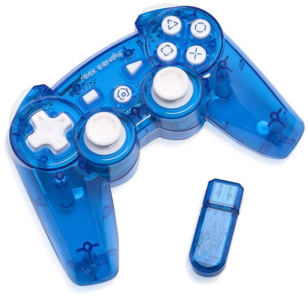 Rock Candy Blueberry Boom Wireless PS3 Controller Games