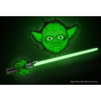 Star Wars Yoda 3D Wall Light Merchandise | Zavvi.com