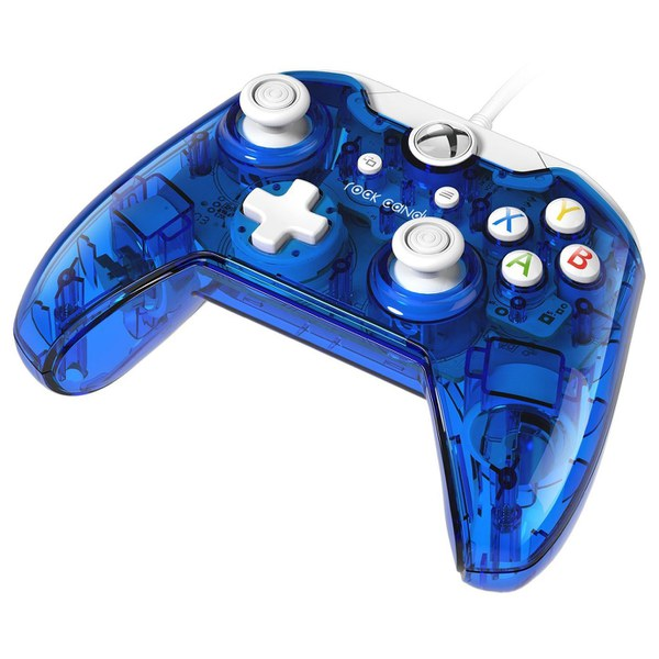 Rock Candy Blueberry Boom Wired Xbox One Controller Games Accessories Zavvi