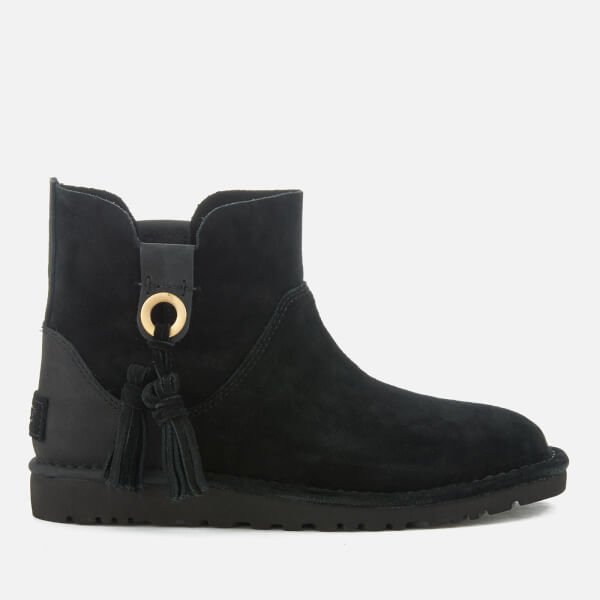 UGG Women's Gib Suede Unlined Ankle Boots - Black