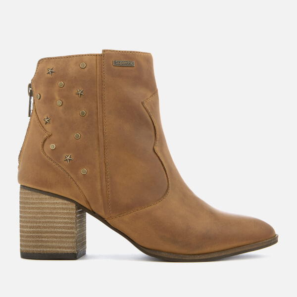 Superdry Women's Miley Ankle Boots - Tan