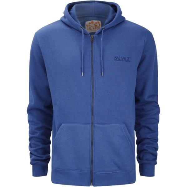 Salvage Men' Fz Hooded Sweatshirt - Deep Blue Clothing