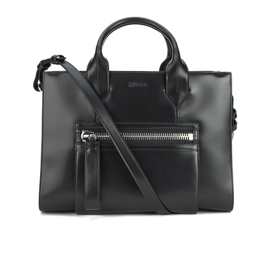 HUGO Womens Valentine Shopper Bag Black