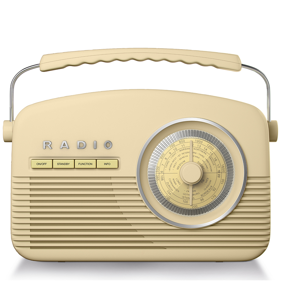 Akai A60010CDAB DAB Retro Radio Cream IWOOT