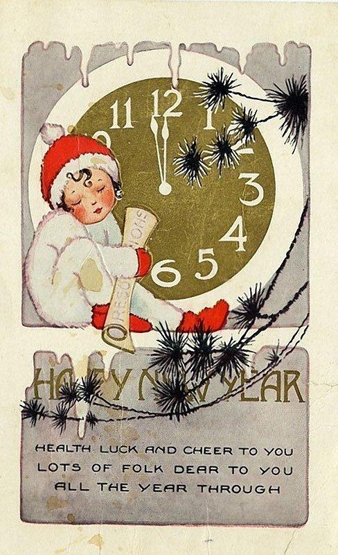Как поздравляли друг друга с Новым годом сто лет назад: 26 редких винтажных открыток