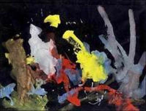 Странный живописец: в Лондоне пройдет выставка картин, которые написал шимпанзе