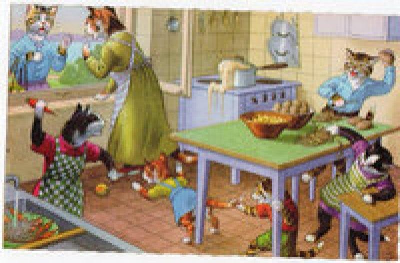 Одетые кошки: изумительные открытки из 1950-х годов от художника Эжена Хартунга