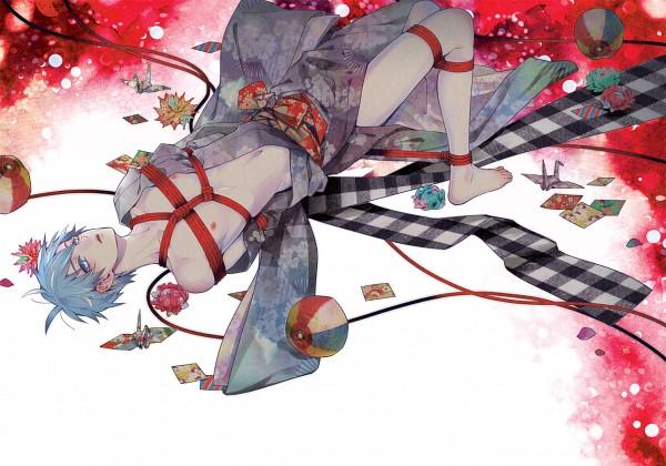 Tags: Anime, Zhu, Kuroko no Basuke, Kuroko Tetsuya, Rope, Nipples, Shibari