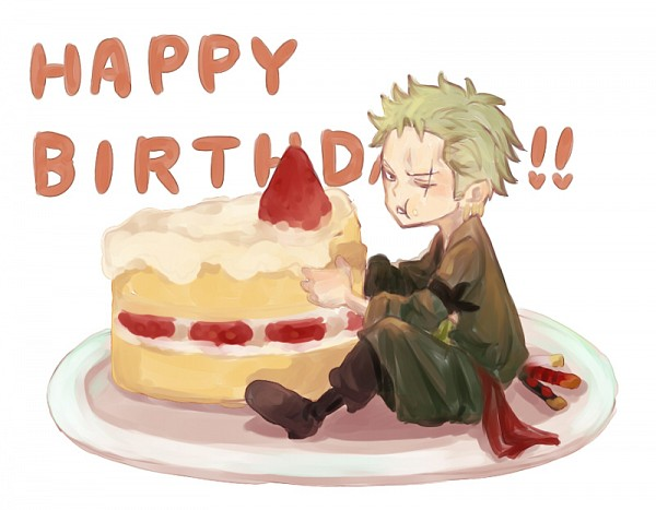 Image result for roronoa zoro birthday
