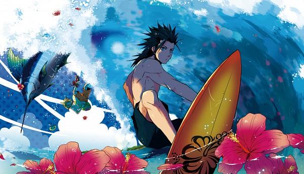 Girl On Surfboard Wallpaper Surfboard Zerochan Anime Image Board