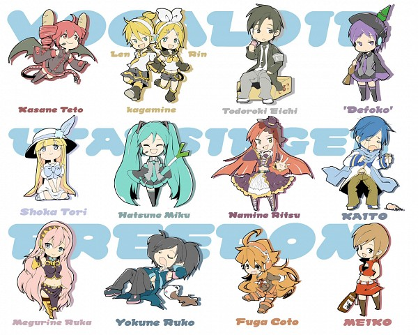 anime vocaloid characters names