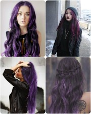 coloured hair ombre pretty purple