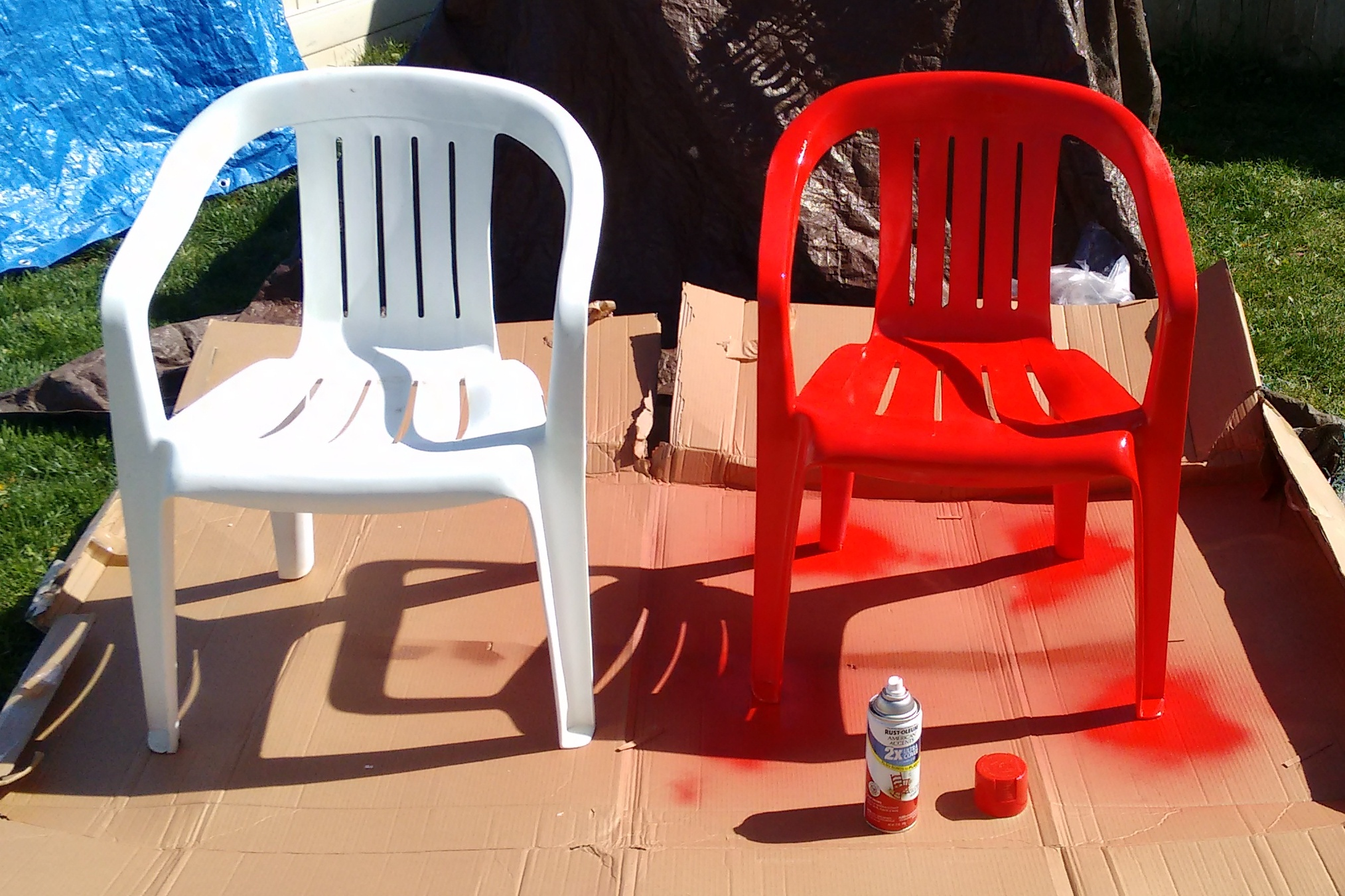 how to paint plastic chairs fisher price precious planet high chair spray painting does it work img 20160417 161322848