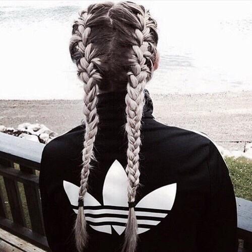 braids, goals, grey, hair, tumblr